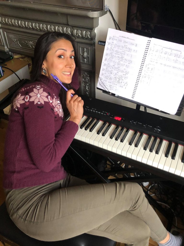 Didem composing a new song