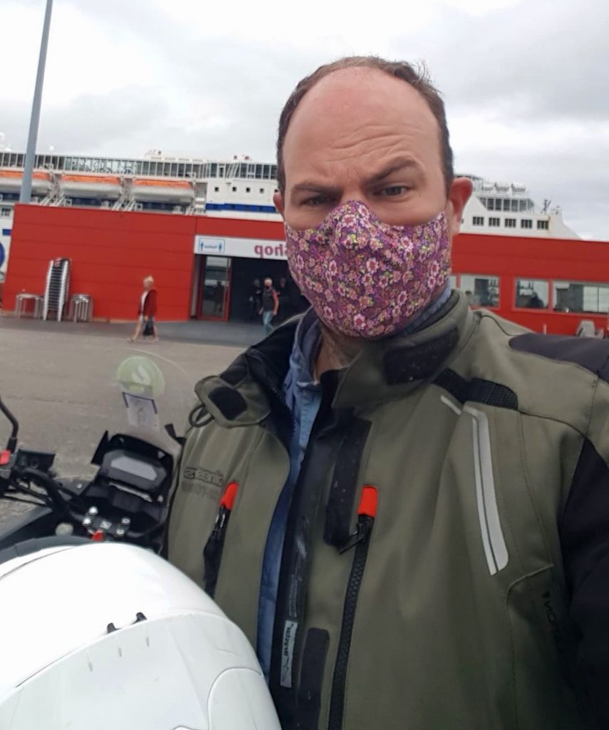About to get on a ferry from Spain to Portsmouth on my motorcycle